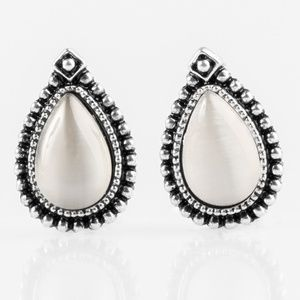 Wouldnt GLEAM Of It - White Post Earrings